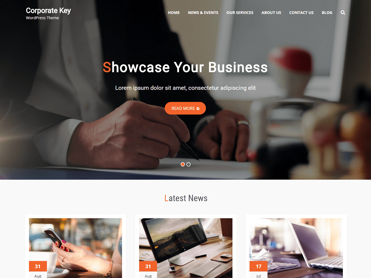 Corporate Key Preview Wordpress Theme - Rating, Reviews, Preview, Demo & Download