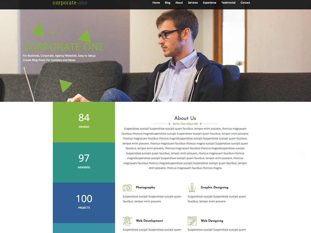 Corporate One Preview Wordpress Theme - Rating, Reviews, Preview, Demo & Download