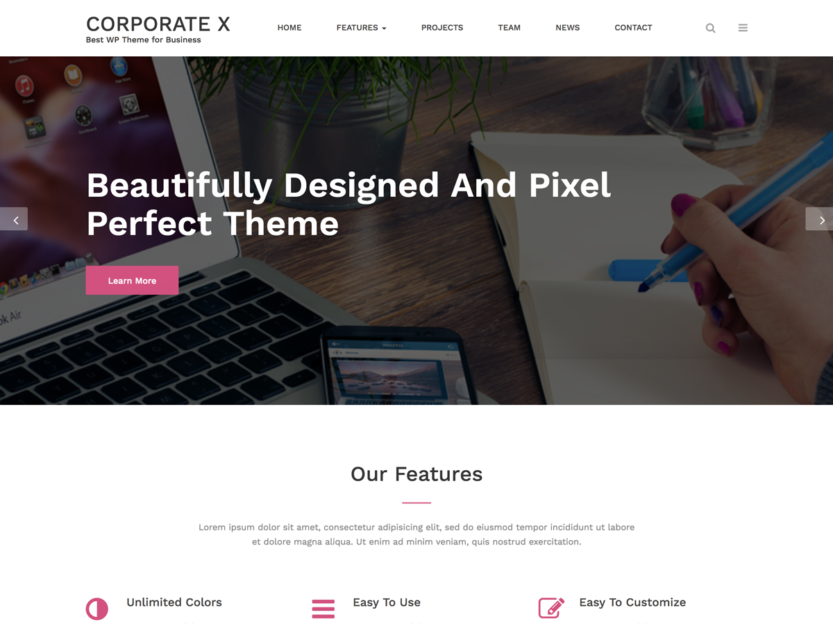 Corporate X Preview Wordpress Theme - Rating, Reviews, Preview, Demo & Download
