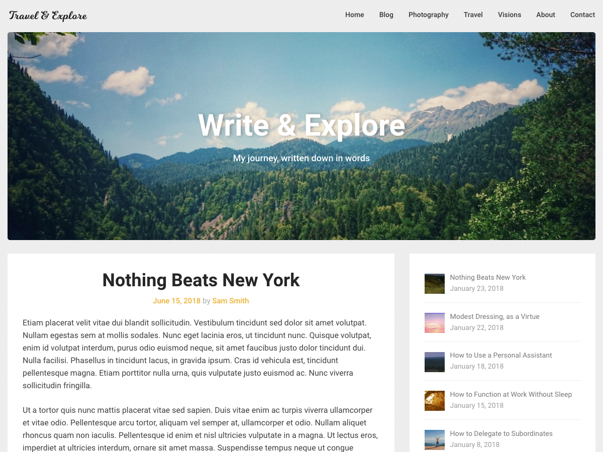 Corporately Blogging Preview Wordpress Theme - Rating, Reviews, Preview, Demo & Download