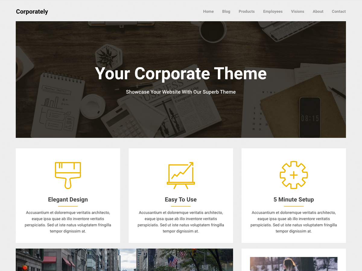 Corporately Preview Wordpress Theme - Rating, Reviews, Preview, Demo & Download