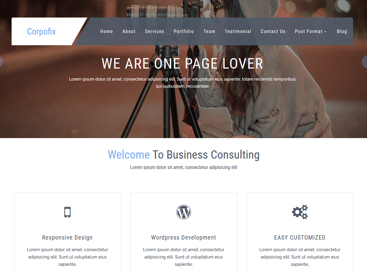 CorporateSource Preview Wordpress Theme - Rating, Reviews, Preview, Demo & Download