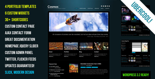 Cosmos Preview Wordpress Theme - Rating, Reviews, Preview, Demo & Download