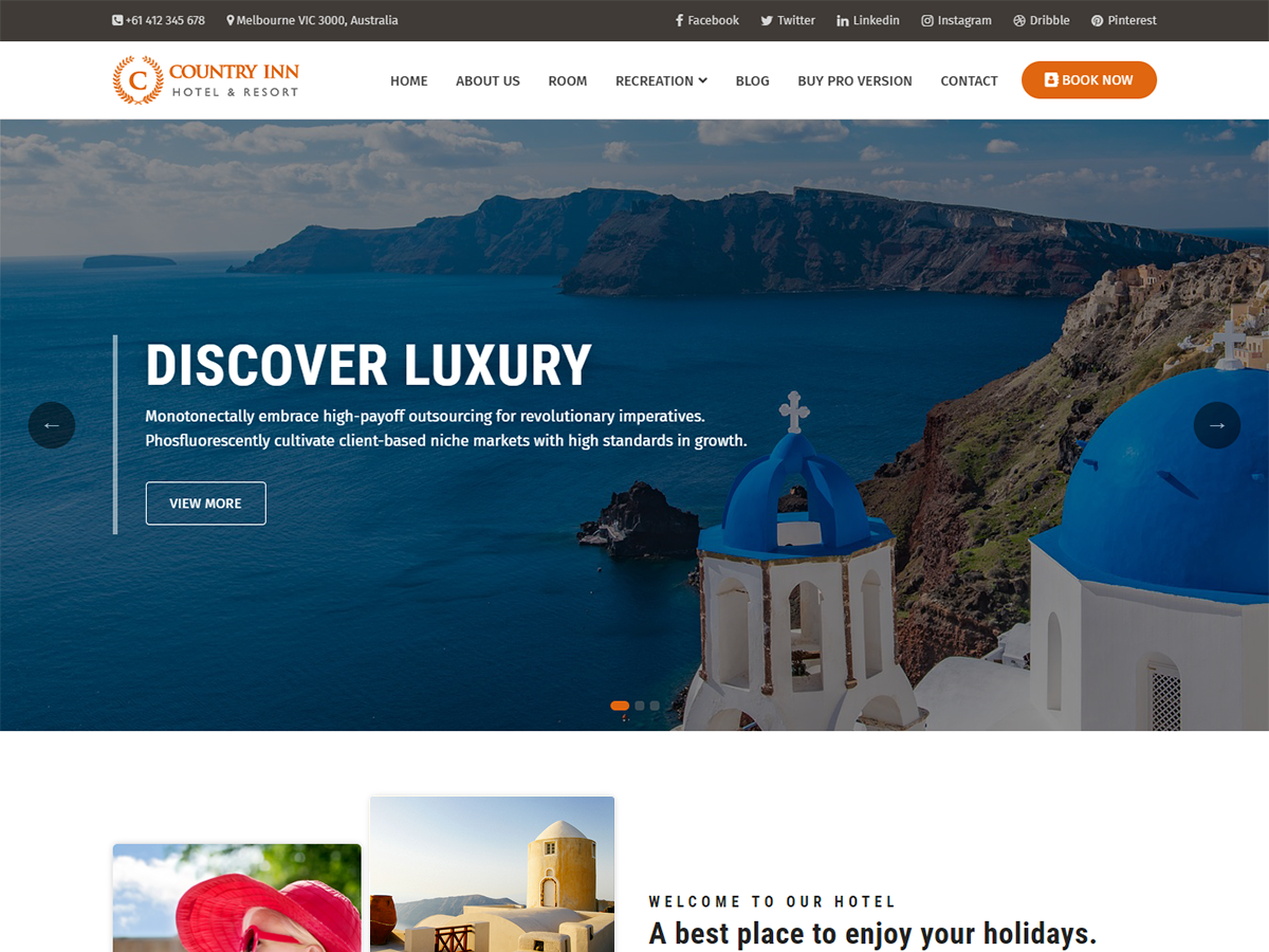 Country Inn Preview Wordpress Theme - Rating, Reviews, Preview, Demo & Download