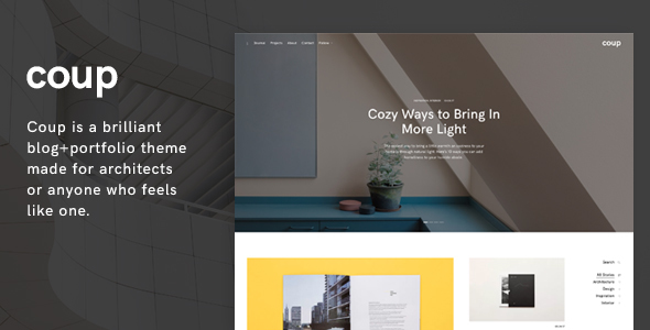 Coup Preview Wordpress Theme - Rating, Reviews, Preview, Demo & Download