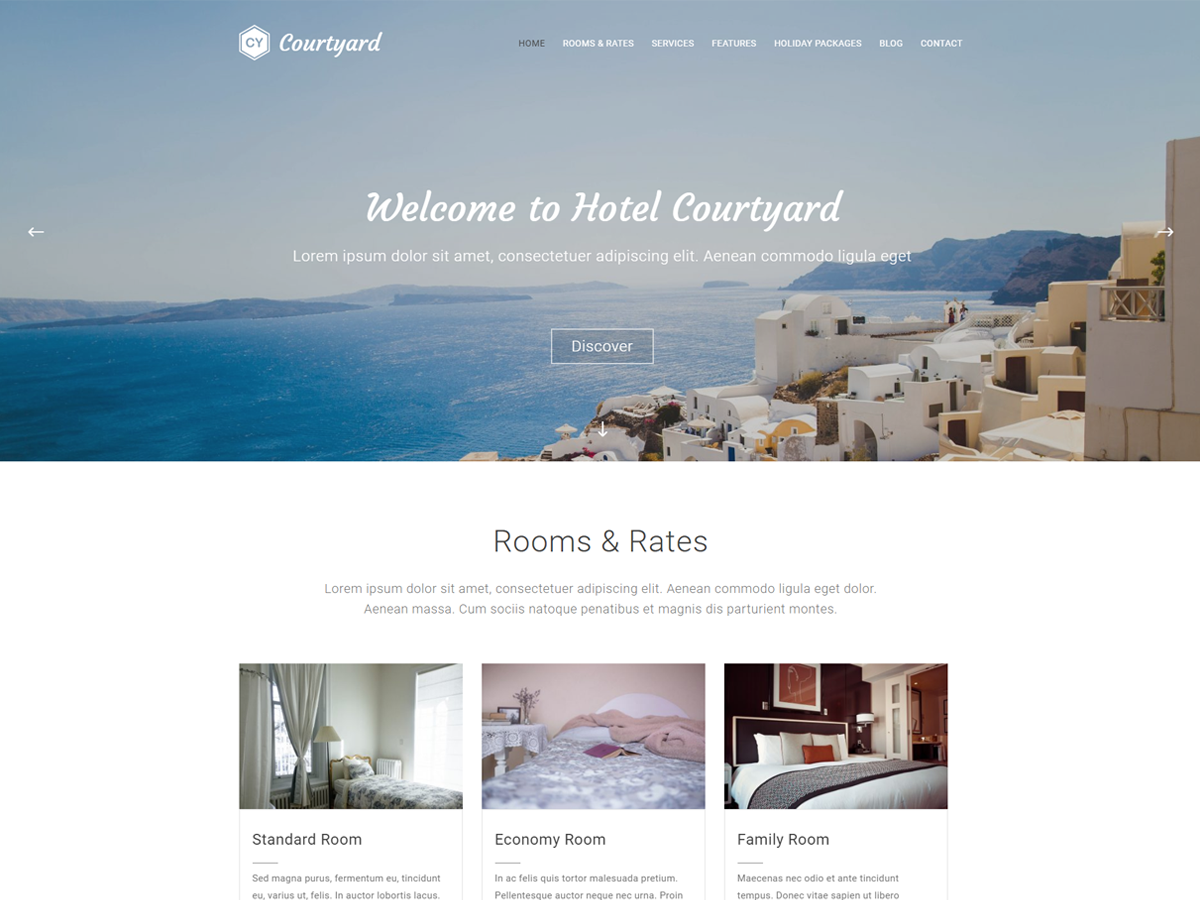 Courtyard Preview Wordpress Theme - Rating, Reviews, Preview, Demo & Download