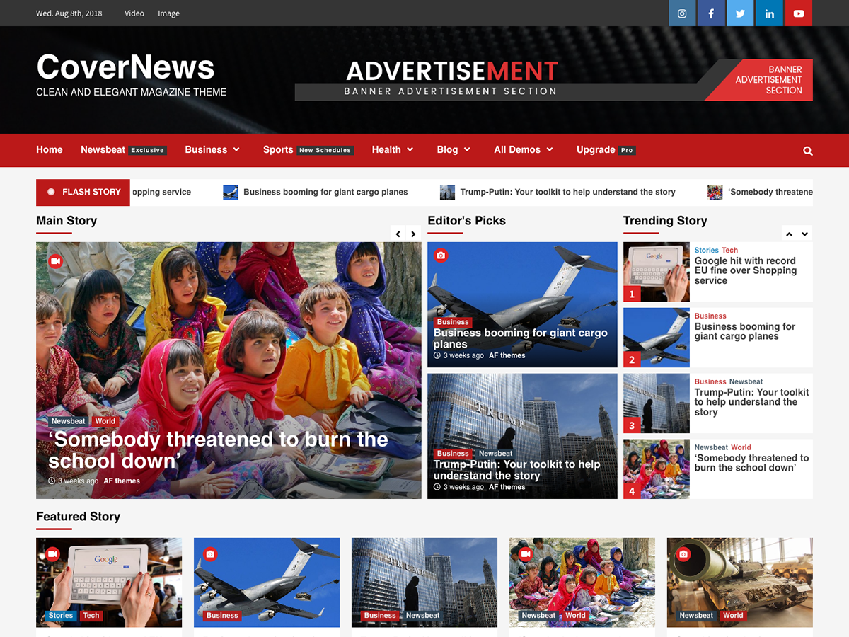 CoverNews Preview Wordpress Theme - Rating, Reviews, Preview, Demo & Download