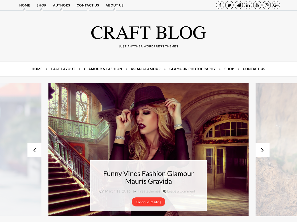 Craft Blog Preview Wordpress Theme - Rating, Reviews, Preview, Demo & Download