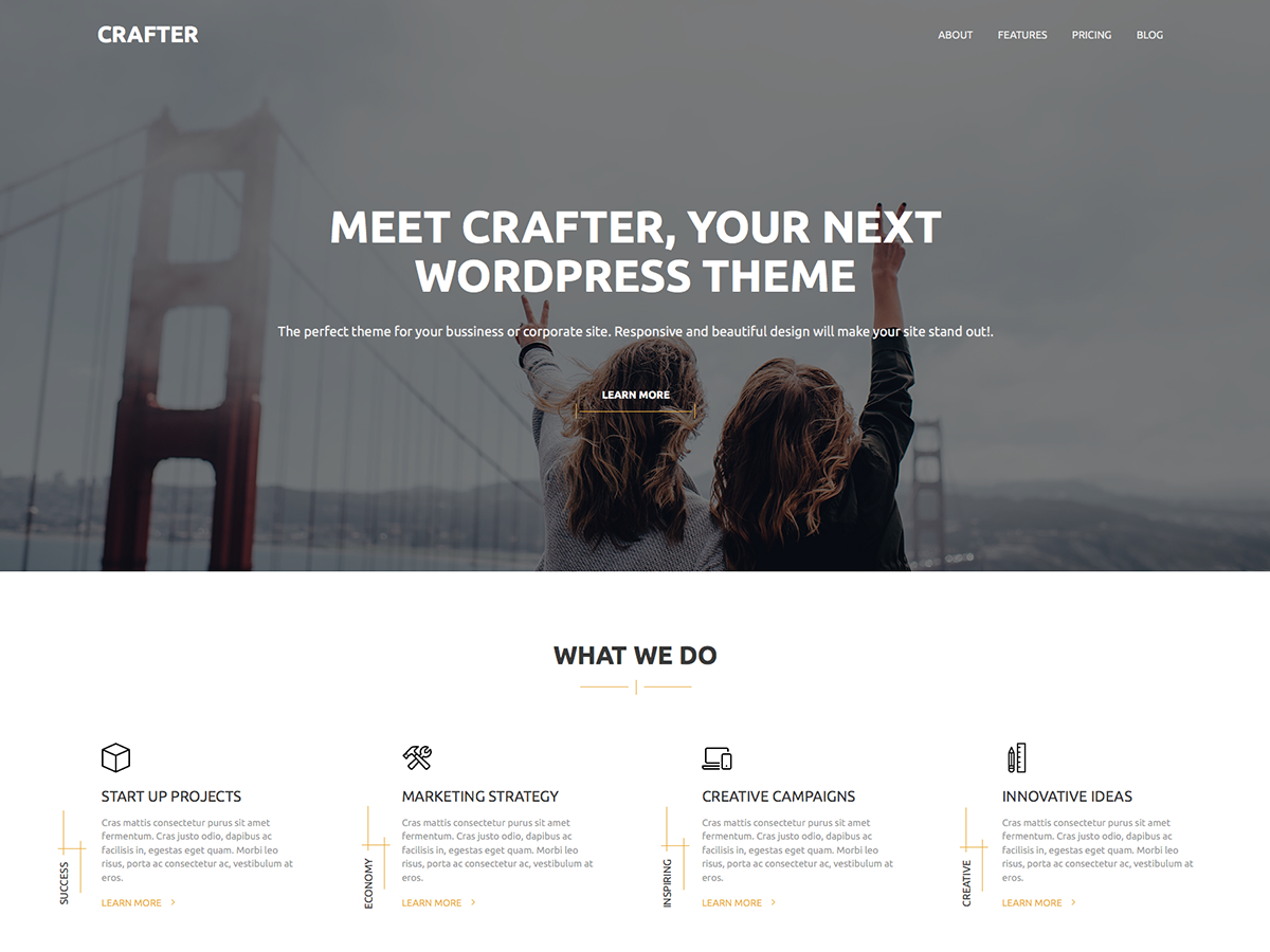 Crafter Preview Wordpress Theme - Rating, Reviews, Preview, Demo & Download