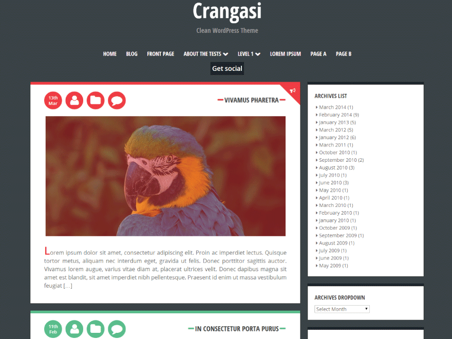 Crangasi Preview Wordpress Theme - Rating, Reviews, Preview, Demo & Download