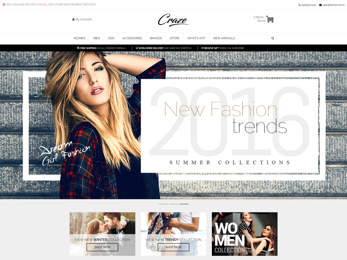 Craze Preview Wordpress Theme - Rating, Reviews, Preview, Demo & Download