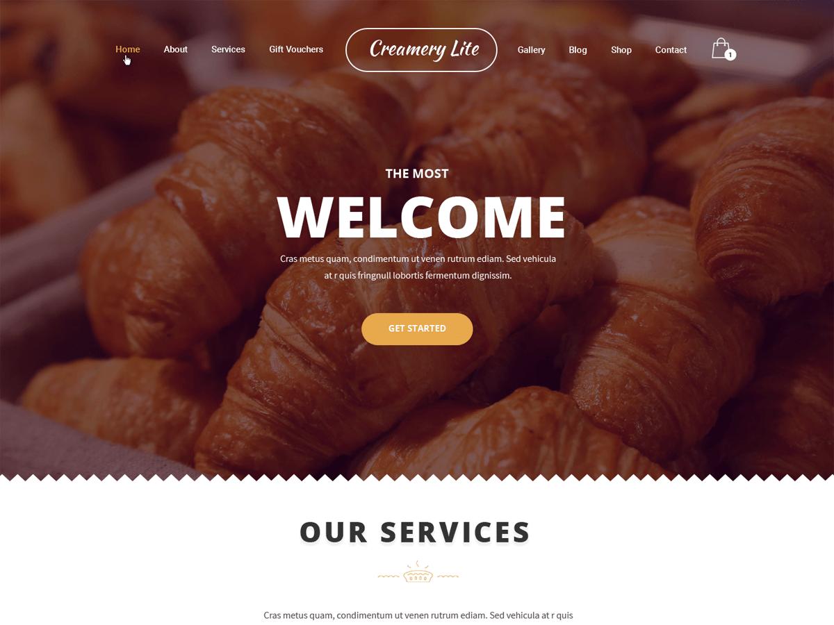 Creamery Lite Preview Wordpress Theme - Rating, Reviews, Preview, Demo & Download