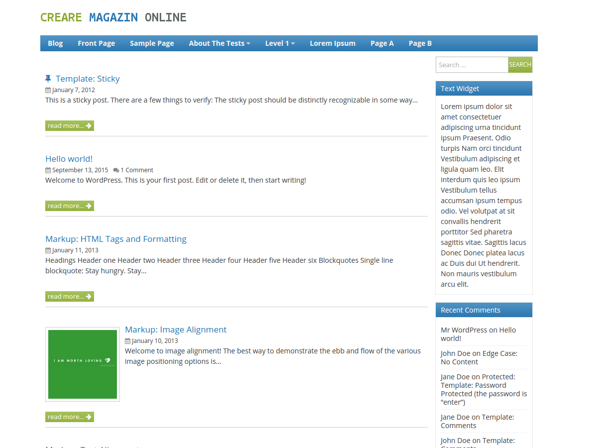 Creare Magazin Preview Wordpress Theme - Rating, Reviews, Preview, Demo & Download
