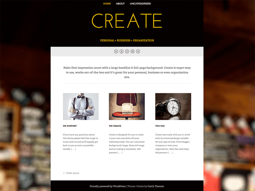 Create Preview Wordpress Theme - Rating, Reviews, Preview, Demo & Download