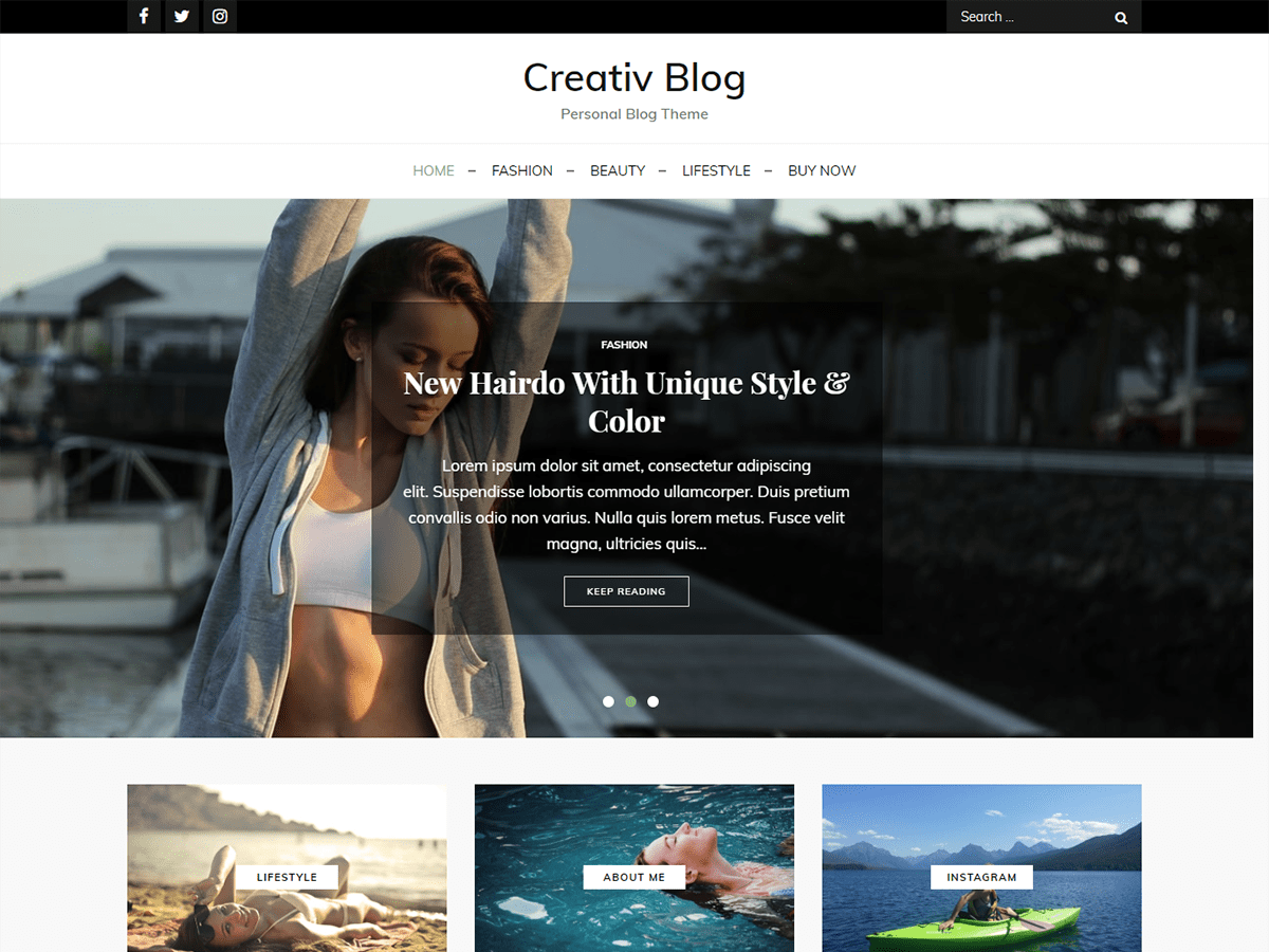 Creativ Blog Preview Wordpress Theme - Rating, Reviews, Preview, Demo & Download