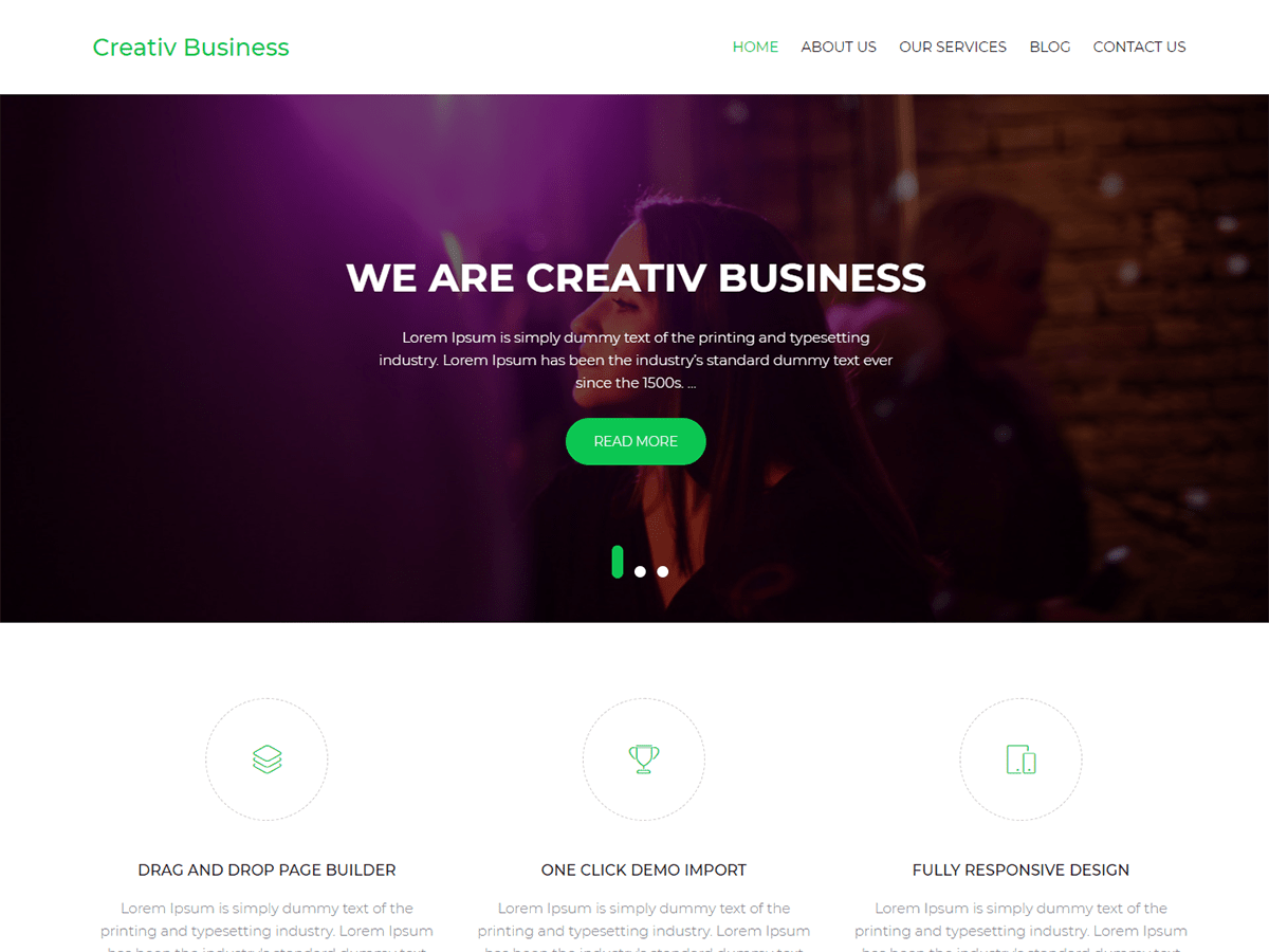 Creativ Business Preview Wordpress Theme - Rating, Reviews, Preview, Demo & Download