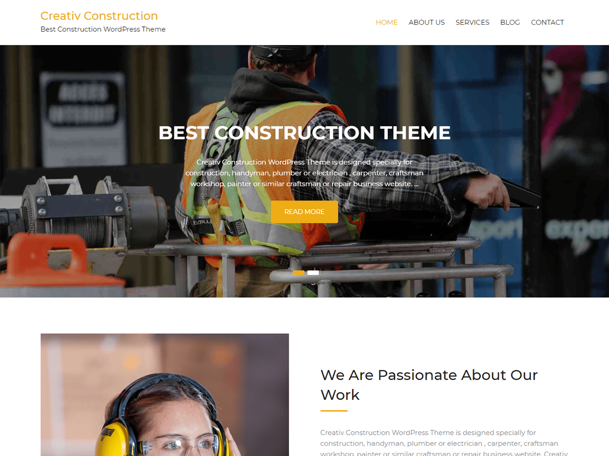Creativ Construction Preview Wordpress Theme - Rating, Reviews, Preview, Demo & Download