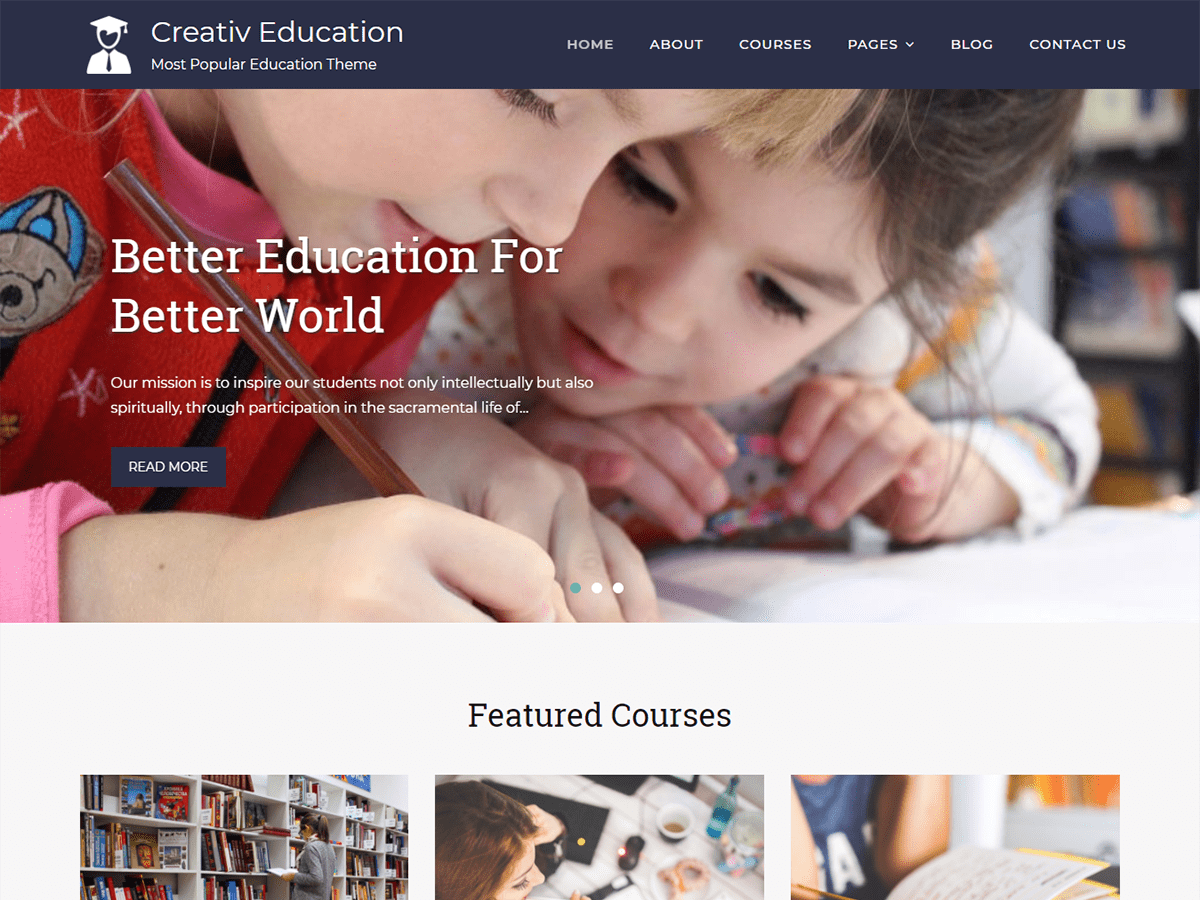 Creativ Education Preview Wordpress Theme - Rating, Reviews, Preview, Demo & Download