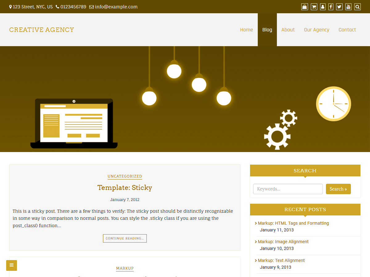 Creative Agency Preview Wordpress Theme - Rating, Reviews, Preview, Demo & Download