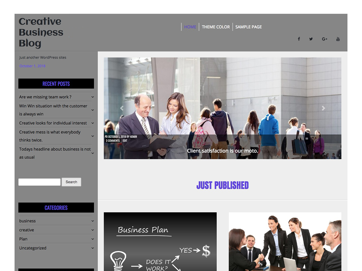 Creative Business Preview Wordpress Theme - Rating, Reviews, Preview, Demo & Download