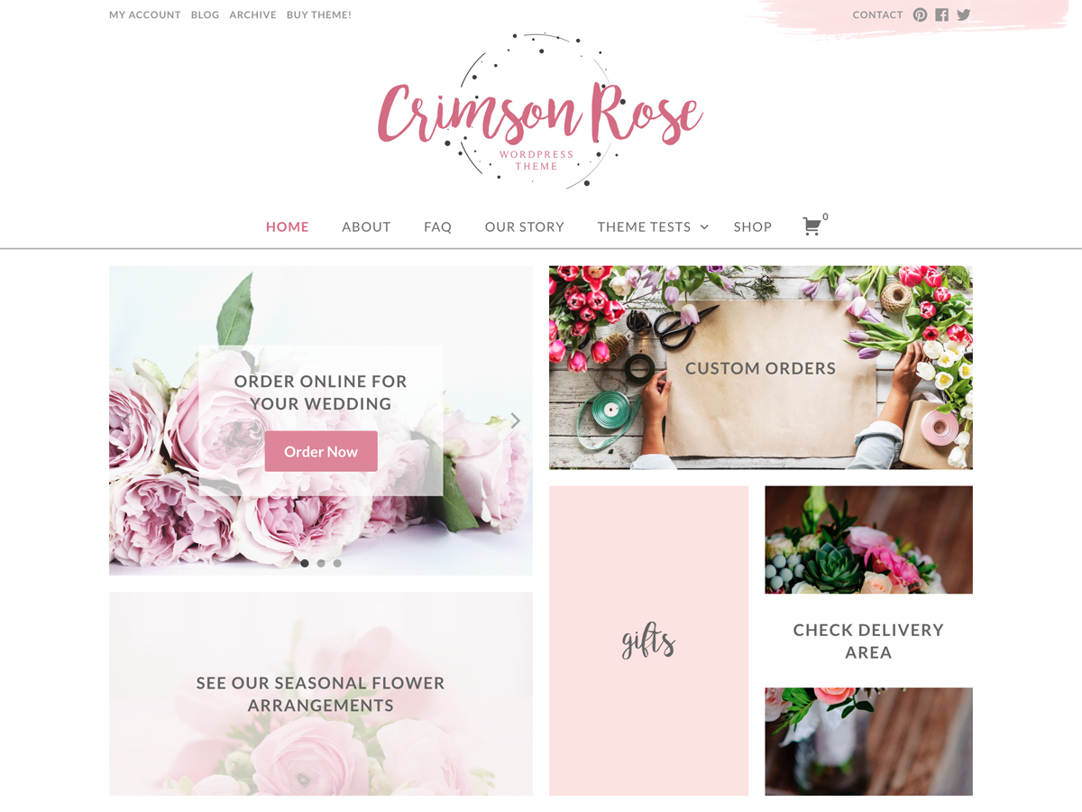 Crimson Rose Preview Wordpress Theme - Rating, Reviews, Preview, Demo & Download