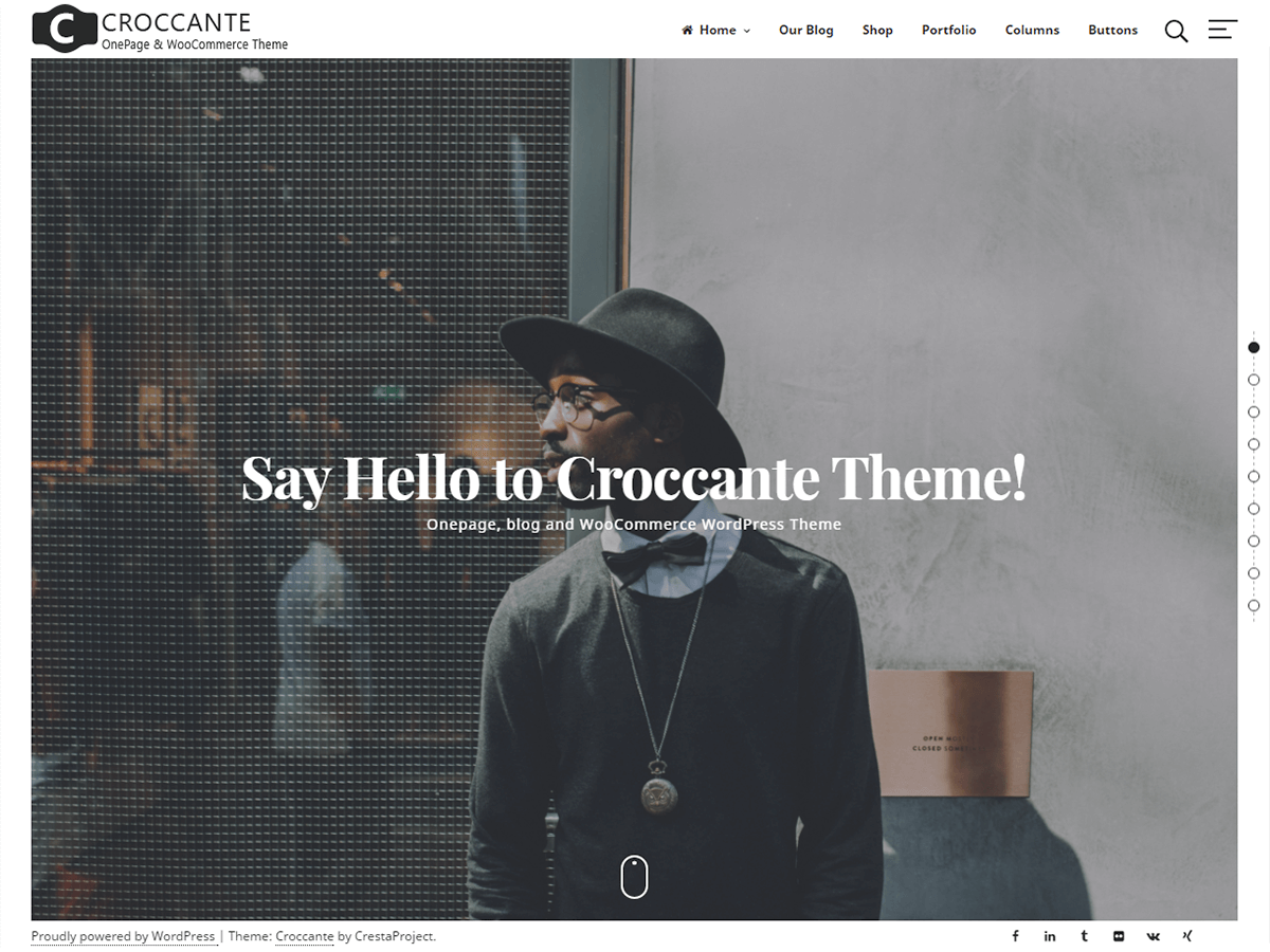 Croccante Preview Wordpress Theme - Rating, Reviews, Preview, Demo & Download