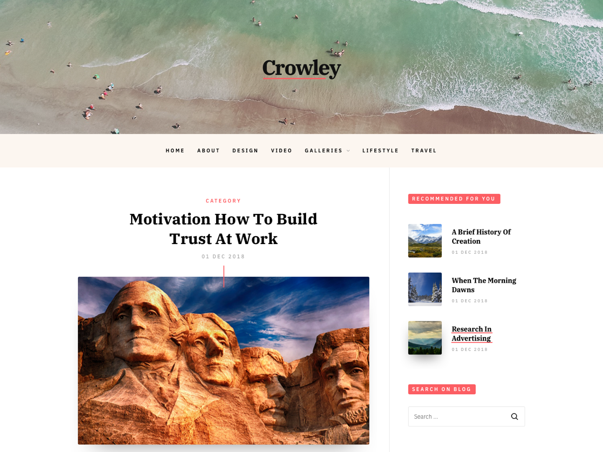 Crowley Preview Wordpress Theme - Rating, Reviews, Preview, Demo & Download