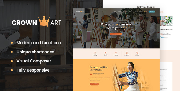 Crown Art Preview Wordpress Theme - Rating, Reviews, Preview, Demo & Download