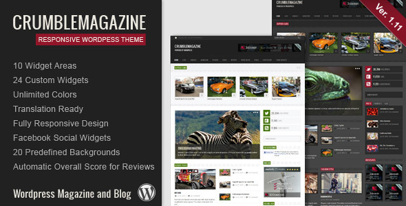 Crumble Preview Wordpress Theme - Rating, Reviews, Preview, Demo & Download