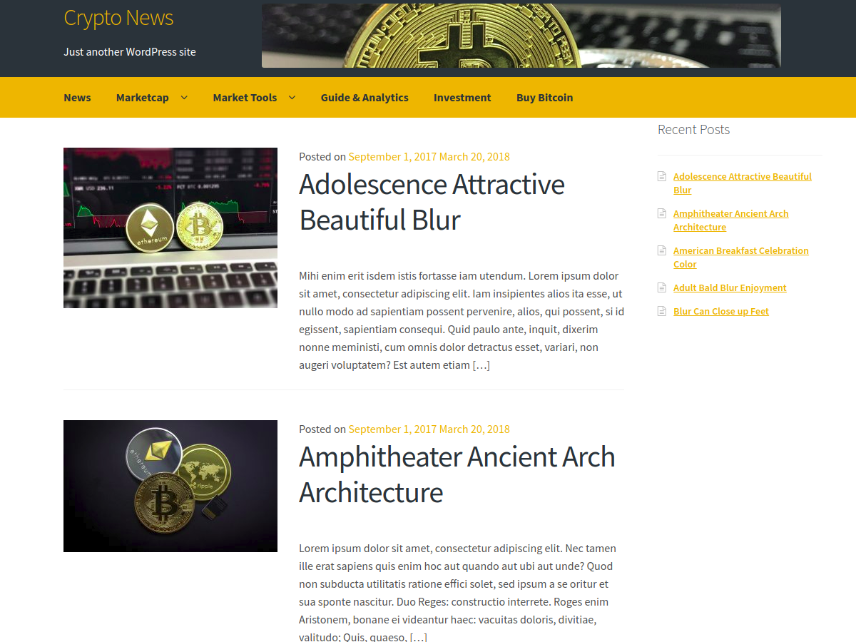 Crypto News Preview Wordpress Theme - Rating, Reviews, Preview, Demo & Download