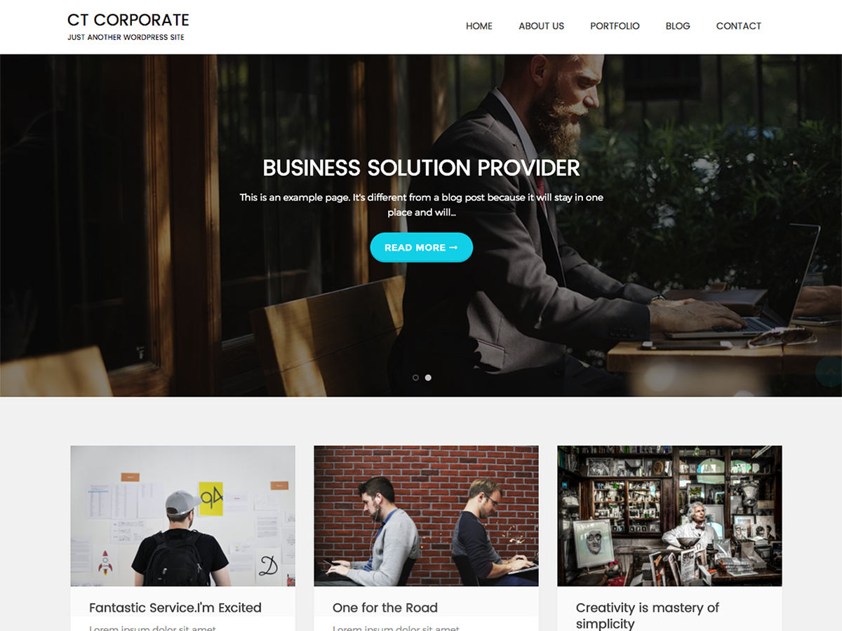 CT Corporate Preview Wordpress Theme - Rating, Reviews, Preview, Demo & Download