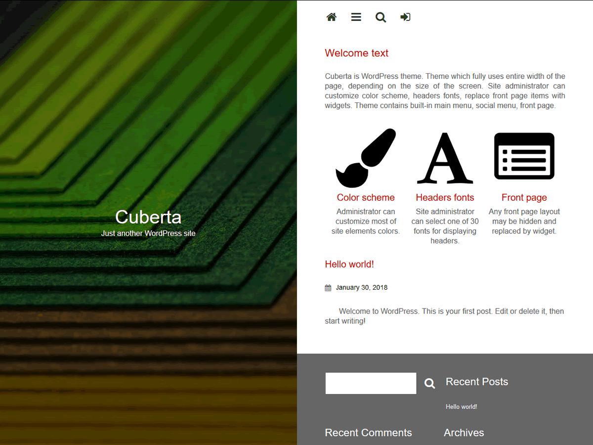 Cuberta Preview Wordpress Theme - Rating, Reviews, Preview, Demo & Download