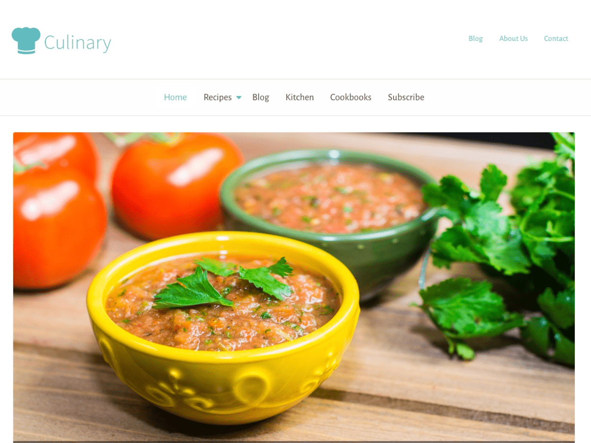 Culinary Preview Wordpress Theme - Rating, Reviews, Preview, Demo & Download