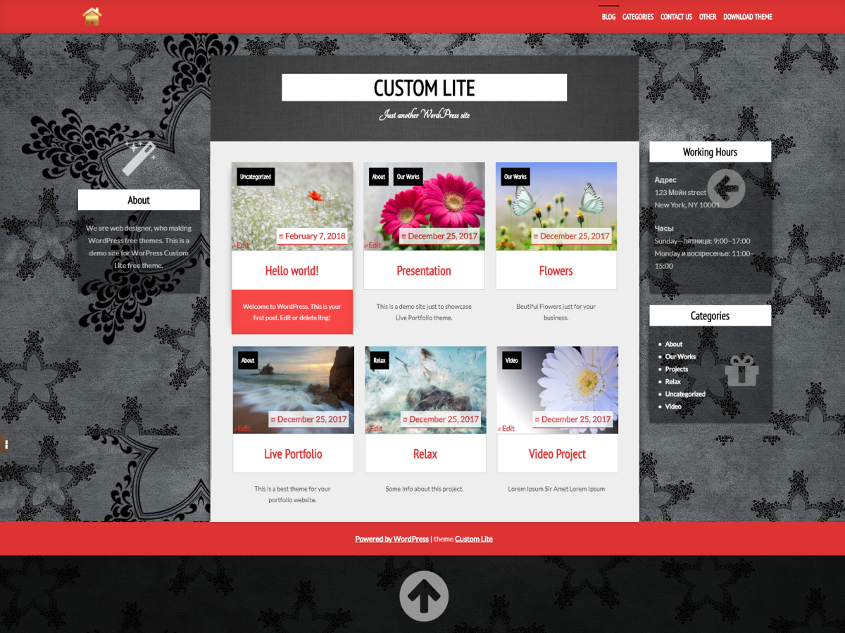 Custom Lite Preview Wordpress Theme - Rating, Reviews, Preview, Demo & Download