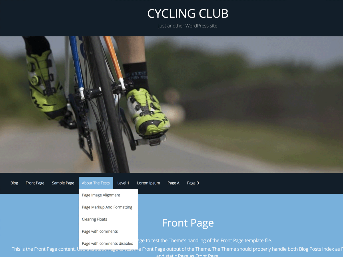 CyclingClub Preview Wordpress Theme - Rating, Reviews, Preview, Demo & Download