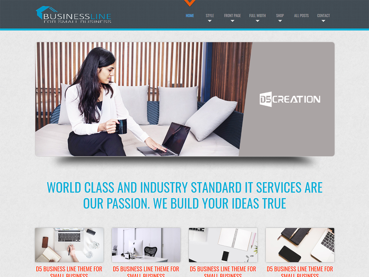 D5 Business Preview Wordpress Theme - Rating, Reviews, Preview, Demo & Download