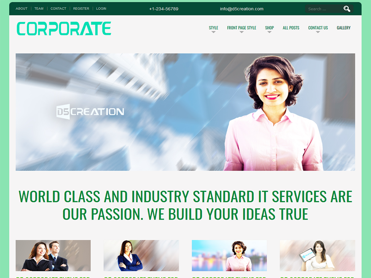 D5 CORPORATE Preview Wordpress Theme - Rating, Reviews, Preview, Demo & Download