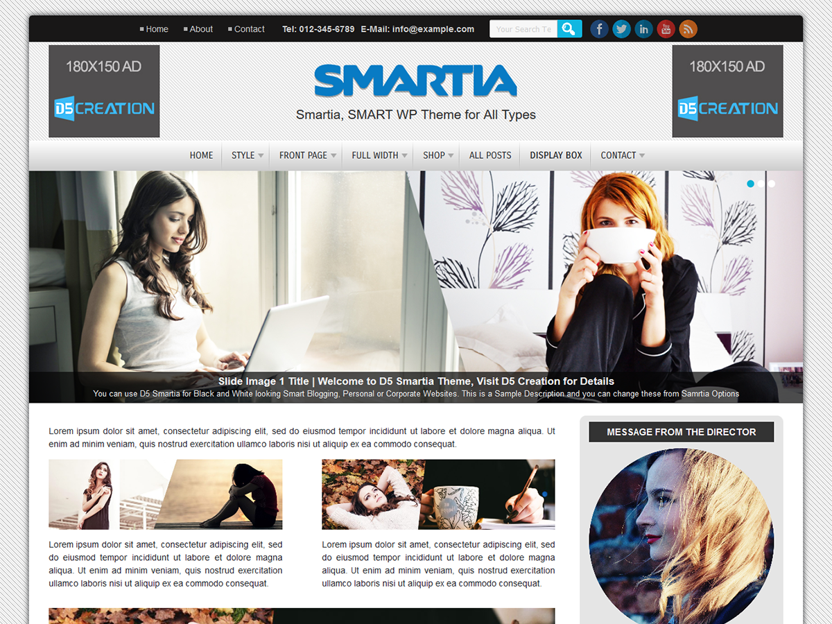 D5 Smartia Preview Wordpress Theme - Rating, Reviews, Preview, Demo & Download
