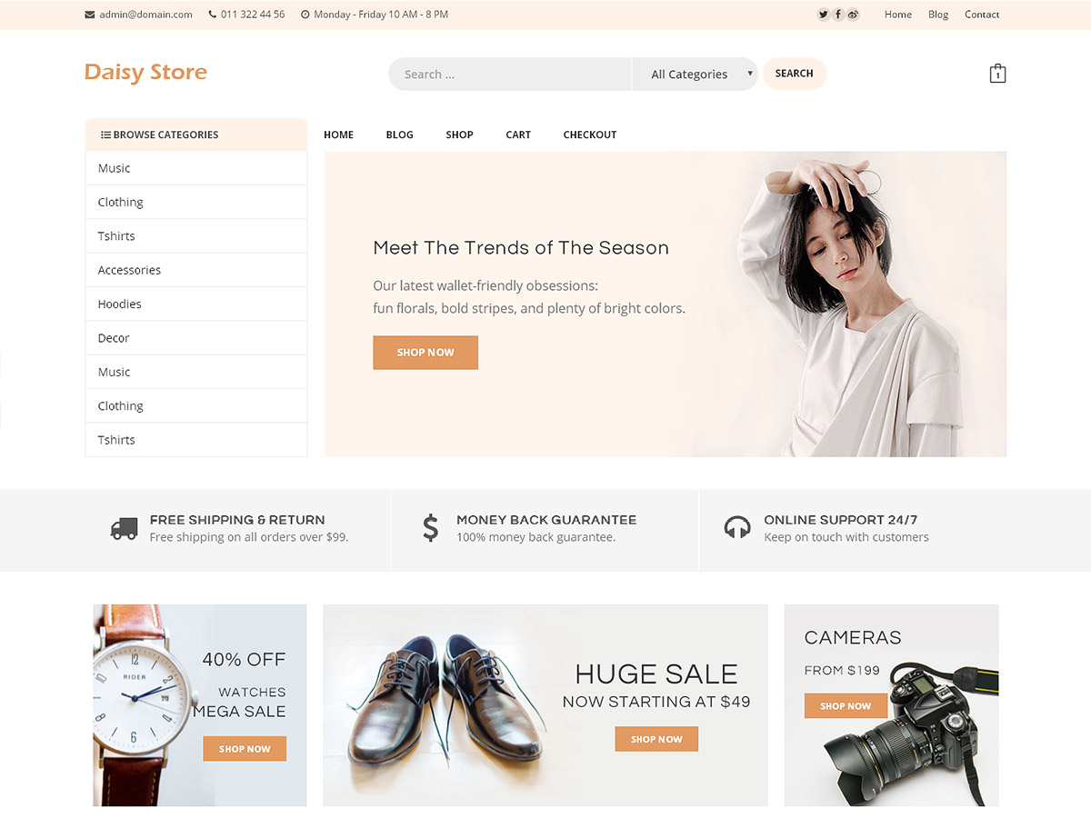 Daisy Store Preview Wordpress Theme - Rating, Reviews, Preview, Demo & Download
