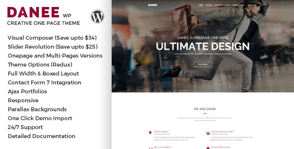 DANEE Preview Wordpress Theme - Rating, Reviews, Preview, Demo & Download