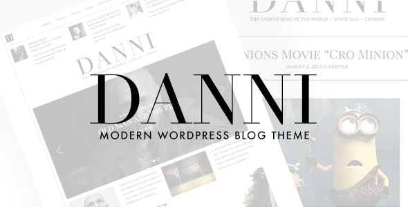 Danni Preview Wordpress Theme - Rating, Reviews, Preview, Demo & Download