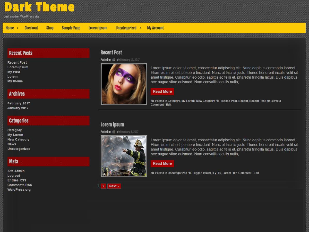 Dark Preview Wordpress Theme - Rating, Reviews, Preview, Demo & Download