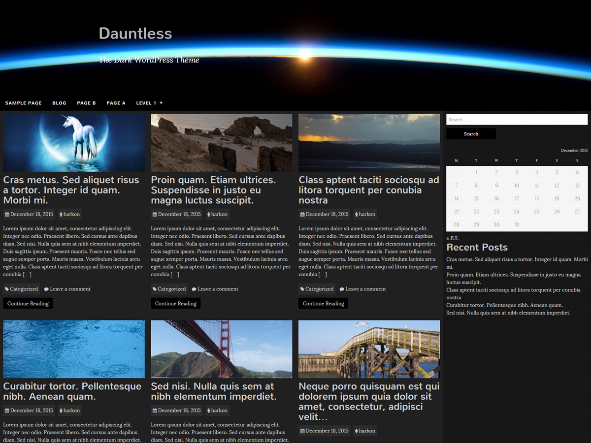 Dauntless Preview Wordpress Theme - Rating, Reviews, Preview, Demo & Download