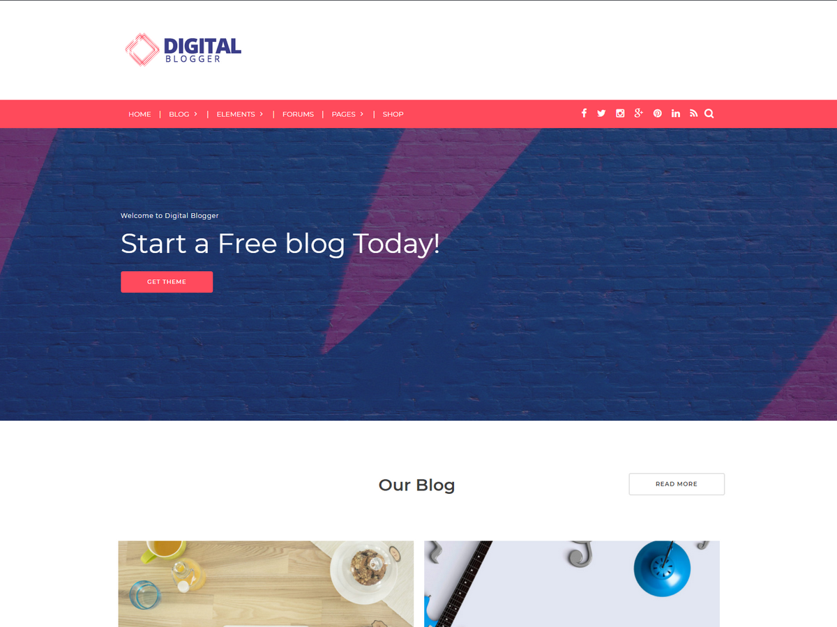 DBlogger Preview Wordpress Theme - Rating, Reviews, Preview, Demo & Download