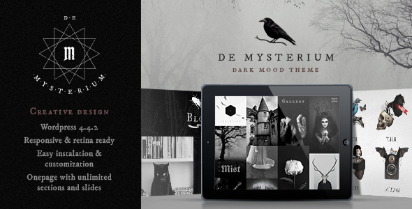 De Mysterium Preview Wordpress Theme - Rating, Reviews, Preview, Demo & Download