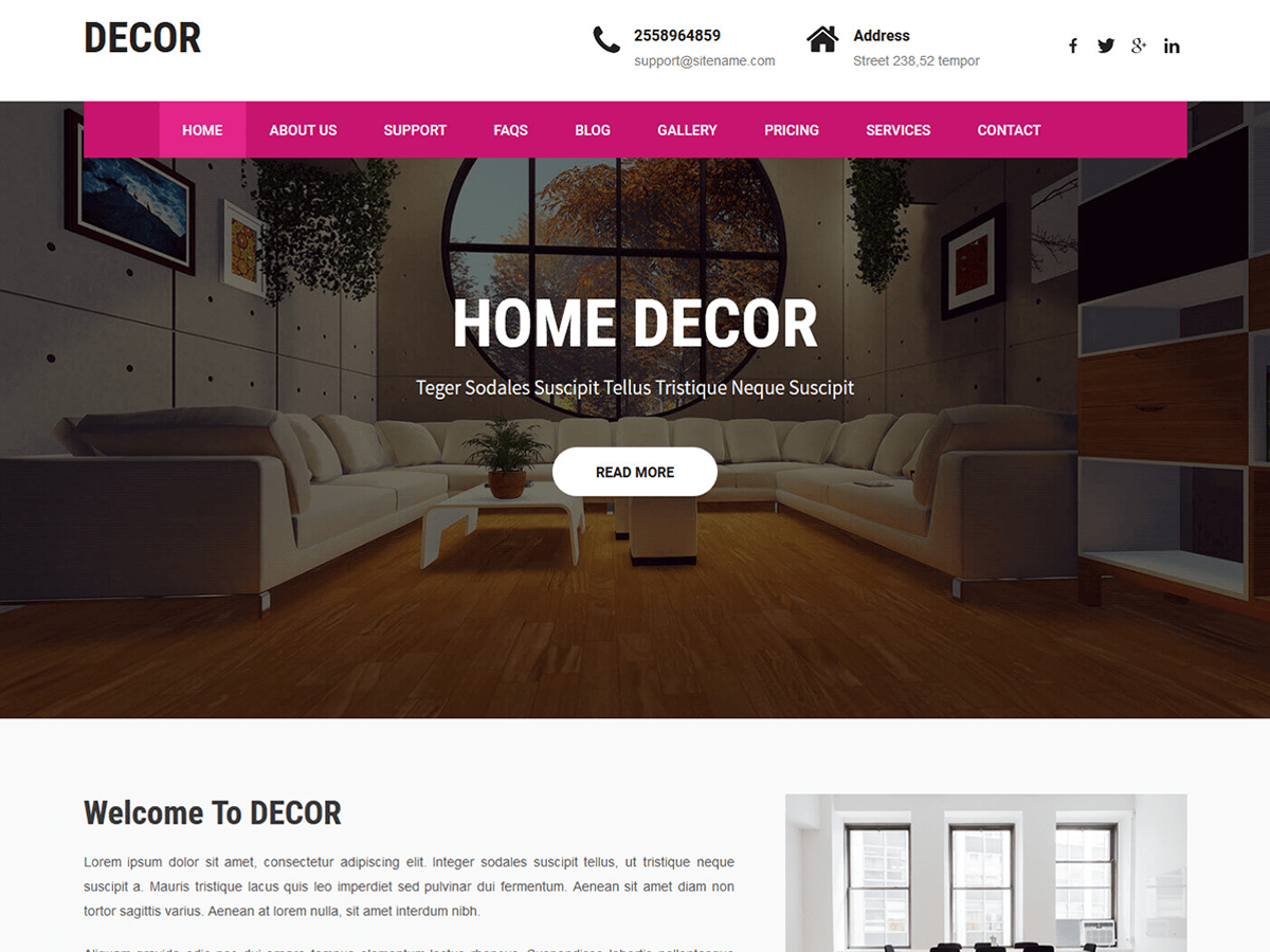 Decor Lite Preview Wordpress Theme - Rating, Reviews, Preview, Demo & Download