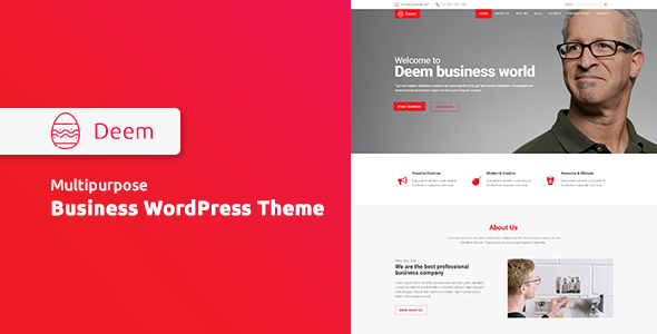 Deem Preview Wordpress Theme - Rating, Reviews, Preview, Demo & Download