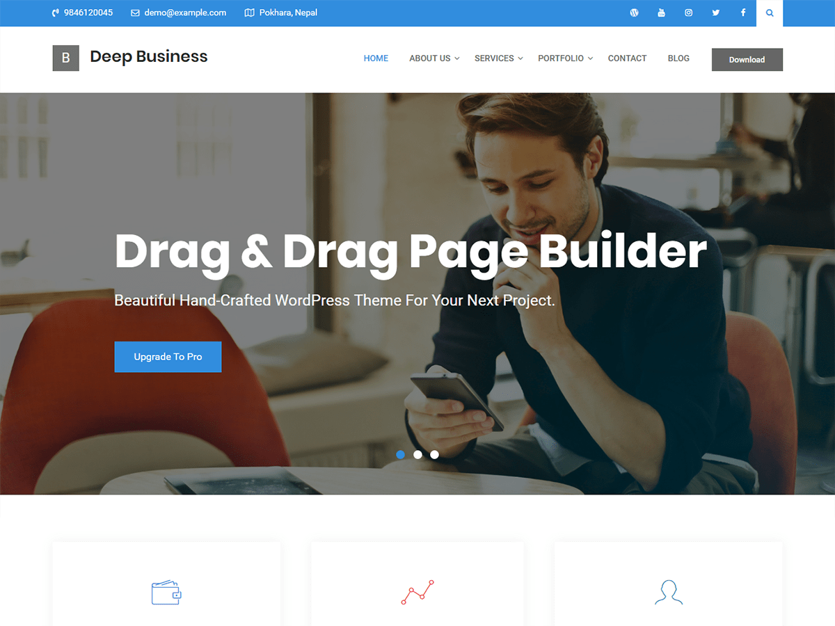 Deep Business Preview Wordpress Theme - Rating, Reviews, Preview, Demo & Download