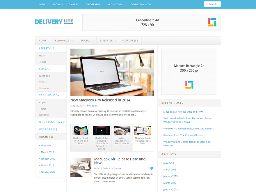 Delivery Lite Preview Wordpress Theme - Rating, Reviews, Preview, Demo & Download