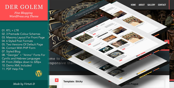 Der Golem Preview Wordpress Theme - Rating, Reviews, Preview, Demo & Download